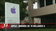 Apple frappé d'une amende de 18 G$