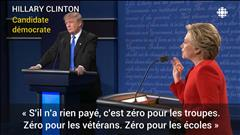 Clinton et Trump face à face