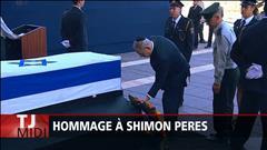Hommage à l'ex-président israélien Shimon Peres