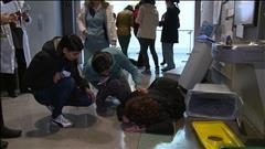 Simulation de tremblement de terre au Collège communautaire de Vancouver