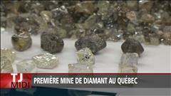 Première mine de diamant au Québec
