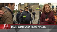 Des étudiants contre un pipeline
