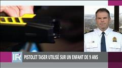 Pistolet taser utilisé sur un enfant de 9 ans