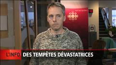 Tempêtes dévastatrices dans l'est du Québec