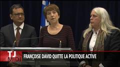 Françoise David quitte la politique active