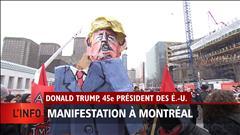 Manifestations anti-Trump à Montréal