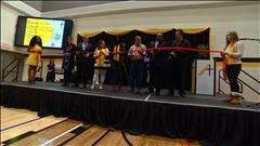la cérémonie d'ouverture de l'École Alexandre Taché