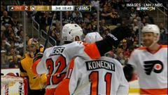 Flyers 5 - Penguins 2 : faits saillants
