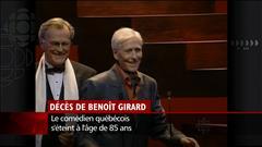 Décès du comédien Benoît Girard