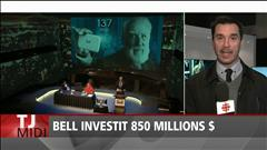 Bell investit 850 millions $