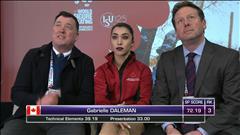 Voyez le programme court de Gabrielle Daleman aux mondiaux de patinage artistique