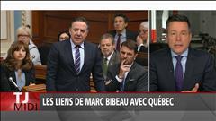 Les liens de Marc Bibeau avec Québec