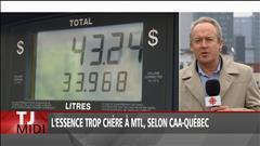 L'essence trop chère à Montréal, dit le CAA