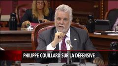 Philippe Couillard sur la défensive