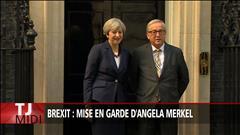 Brexit : mise en garde d'Angela Merkel