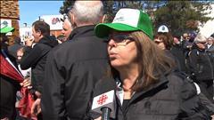 Marche contre la taxe sur le bois d'oeuvre
