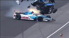 Terrible accident aux 500 milles d'Indianapolis