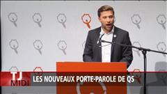 Nadeau-Dubois et Massé élus porte-parole de Québec solidaire