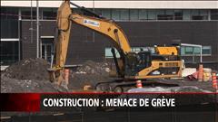 Construction : menace de grève