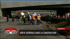 Grève : les chantiers du Québec paralysés