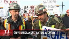 Grève dans la construction au Québec