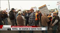 Soixantaine de chantiers paralysés à Montréal