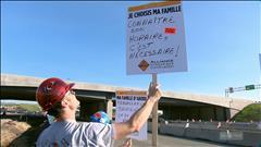 Les travailleurs de la construction en grève