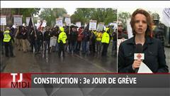 Construction : 3e jour de grève