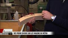Des freins en bois sur les wagons du métro