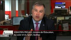 Réussite scolaire : le ministre Proulx explique son plan