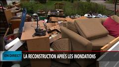 La reconstruction après les inondations