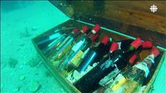 Du vin à 40 mètres sous la mer