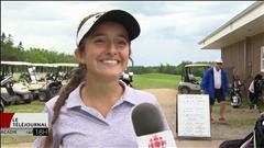 Julie Gauvin, une jeune golfeuse de Dieppe particulièrement talentueuse
