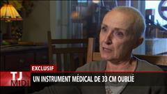 Un instrument médical oublié dans une patiente