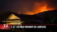 C.-B. : les feux prennent de l'ampleur