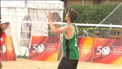 Les provinces de l'Ouest dominantes au volleyball de plage