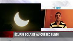 Éclipse solaire au Québec lundi