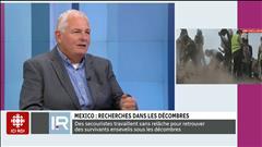 Mexico : recherches dans les décombres