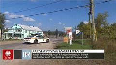 SQ : le corps d'Yvon Lacasse retrouvé
