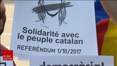 Manifestation de soutien aux Catalans à Montréal