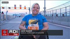 Marathonienne en fauteuil roulant