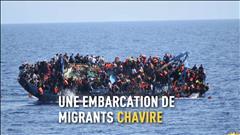 Un navire de migrants chavire en direct en Méditerranée