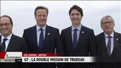 G7 : la double mission de Trudeau
