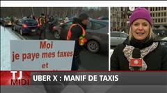 Des chauffeurs de taxi manifestent (2016-01-28)