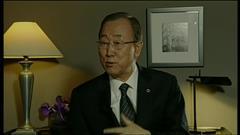 L'entrevue de Ban Ki-moon