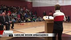 Caroline Bisson devient ambassadrice auprès des jeunes