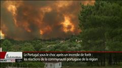 Violent feu de forêt au Portugal
