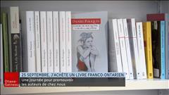 Le 25 septembre, j'achète un livre Franco-Ontarien