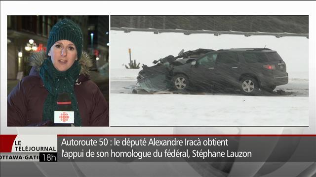 Autoroute 50: le député Alexandre Iracà obtient l'appui de son homologue du fédéral Stéphane Lauzon