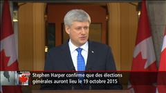 Harper déclenche des élections